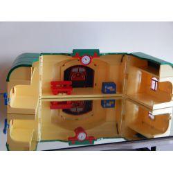 Gare Transportable Manque La Poignée Quelques Traces D'Usures Série 123 Playmobil