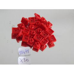 Lot De 20 Clips Rouges Playmobil