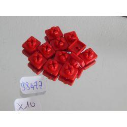 Lot De 10 Clips Rouges Playmobil