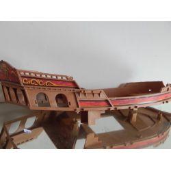 Coque De Bateau Pirate Mat Cassé A L'Intérieur 5135 Playmobil