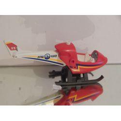 Hélicoptère 1 Encoche Cassée Du Patin 4824 Playmobil