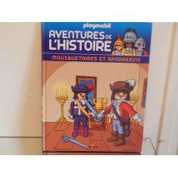 Livre Les Aventures De L'Histoire Mousquetaires Et Spadassins n°40 Playmobil