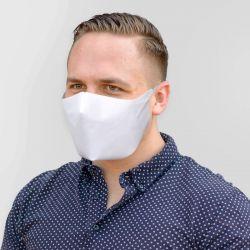 Masque Blanc En Tissu Polyester LAVABLE REUTILISABLE Tout Simple Premier Prix DISPONIBLE DE SUITE