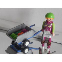 Agricultrice Et Brouette De Légumes Playmobil