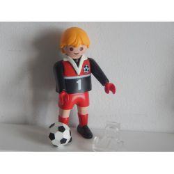 Entraineur De Foot Support Transparent Et Ballon Playmobil