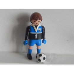 Entraineur De Foot Support Transparent Et Ballon Playmobil