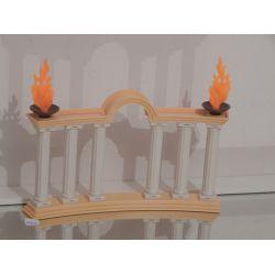 Superbe Colisée Avec Colonne Et Flamme Playmobil