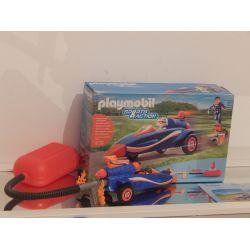 Pilote Et Voiture Fusée - Personnage Non D'Origine Dans Sa Boite 9375 Playmobil