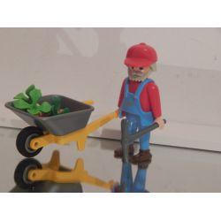 Agriculteur Et Brouette De Légumes Playmobil