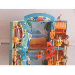 Coffret Transportable La Boutique De Surfeur Personnages Et Accéssoires Playmobil