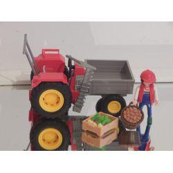 Tracteur Avec Faucheuse Et Fermier Playmobil