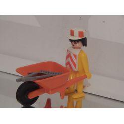 KLICKY - Employé De Chantier Et Brouette De 1976 Du Coffret 3400 Playmobil