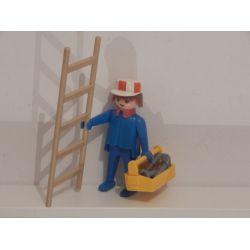 KLICKY - Employé De Chantier Et Echelle De 1976 Du Coffret 3400 Playmobil