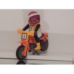 Moto De Cross Et Pilote Playmobil
