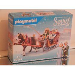 Superbe Calèche D'Hiver EN COFFRET NEUF Collection SPIRIT 70397 Playmobil