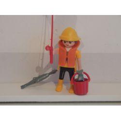 Superbe Le Pêcheur Et Canne A Pêche Playmobil