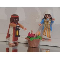 Superbe Joseph Marie Et Le Petit Jésus Playmobil