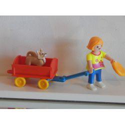 Enfant Chariot Et Chihuahua Playmobil