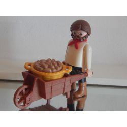 Superbe Le Marchand De Légume Série 1900 Playmobil