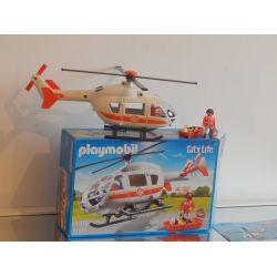 Superbe Hélicoptère De Secours Avec Pilote Urgentiste Et Blessé - Boite Et Notice 6686 Playmobil