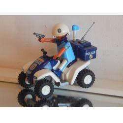 Quad A Traction Avec Policier Très Bel Etat Playmobil
