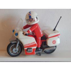Pilote Urgentiste De L'Hopital Et Grosse Moto Playmobil