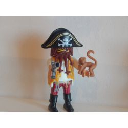 Capitaine Des Pirate Et Bébé Singe Playmobil