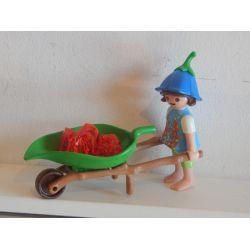 Petit Elfe Et Brouette Végétale Playmobil