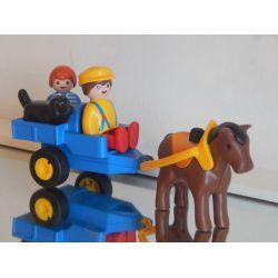 Chariot Du Fermier Enfant Et Chien Série 123 Playmobil