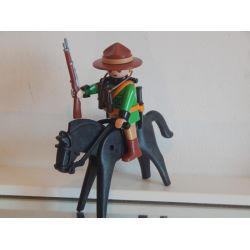 Peu Courant Ce Garde Forestier A Cheval Playmobil