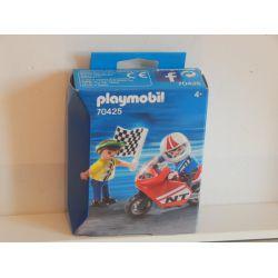 Deux Enfant Et Mini Moto De Course EN COFFRET NEUF 70425 Playmobil