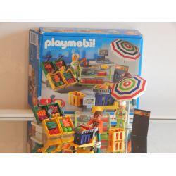 Z1 - Vendeuse Du Supermarché Et Etalage - Boite - De 2002 3202 Playmobil