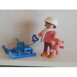 Z1 - Enfant Et Sa Luge Aux Sports D'Hiver Playmobil