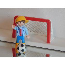 Z1 - Enfant Et Cage De Foot Playmobil