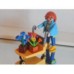 Maman Et Chariot De Fleurs De La Jardinerie 4480 Playmobil