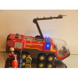 Rare A Trouver Véhicule Des Pompiers Aéroportuaire Avec Sirène Et Gyrophare 5337 Playmobil