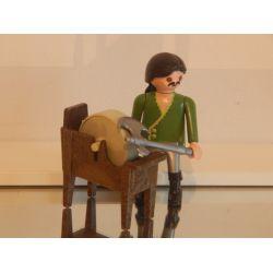 L'Aiguiseur D'Arme Et Meule Médiéval Playmobil