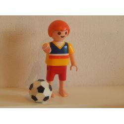 Enfant Et Ballon De Foot Playmobil