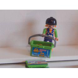 Enfant Du Centre Equestre Et Malette Garnie Playmobil