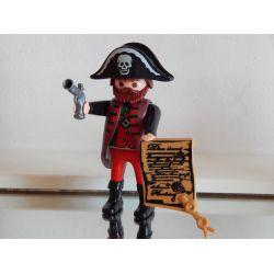 Capitaine Des Pirates En Arme Et Carte Au Trésor Playmobil