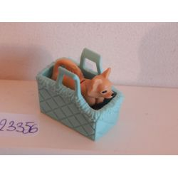Chihuahua Dans Son Panier Bleu Playmobil