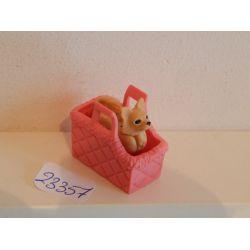 Chihuahua Dans Son Panier Rose Playmobil