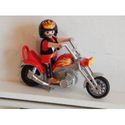 Motard Et Sa Moto Erraflures Sur Chrome Voir Photos Playmobil