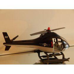 Hélicoptère De La Police Sans Personnage Petite Réparation Sur Le Patin Playmobil