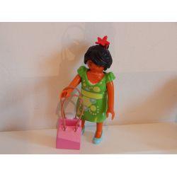 Maman Et Robe Clipsable Fait Du Shopping Playmobil