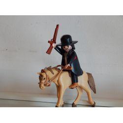 Superbe Brigand A Cheval Playmobil