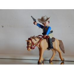 Superbe Shérif A Cheval Playmobil