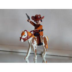 Superbe Cow Boy A Cheval Playmobil