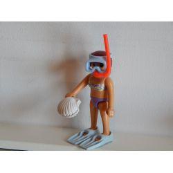 Maman Fait De La Plongée Sous Marine Playmobil