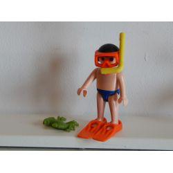 Enfant Fait De La Plongée Sous Marine Playmobil